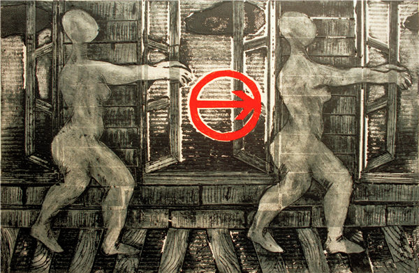 Lei Yan, The Traffic Rule1, Printmaking, 1998